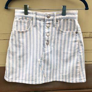 MADEWELL Pinstriped Denim Skirt